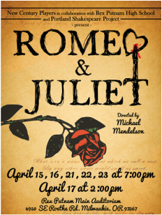 "New Century Players- ""Romeo and Juliet"" @ Rex Putnam Main Stage | Milwaukie | Oregon | United States"