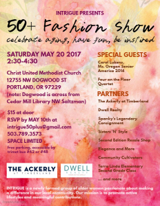 Intrigue- Fashion After 50: A Show for Inspiration and Fun @ The Christ United Methodist Church  | Portland | Oregon | United States